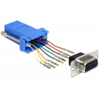 Adapter Sub-D 9 Pin female > RJ45 female assembly kit Delock
