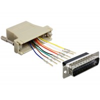 Sub-D 25 Pin male > RJ45 female assembly kit Delock