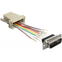 Adapter Sub-D 15 Pin male > RJ45 female assembly kit