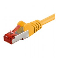 Cable RJ45 C6  0,25m    SSTP  yellow CU