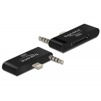 Delock Audio Adapter 8 pin male + stereo jack > 30 pin female for IPhone 5, IPod Touch 5