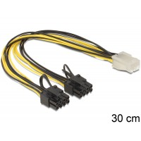 Delock Cable PCI Express power supply 6 pin female > 2 x 8 pin male