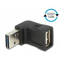 Delock Adapter EASY-USB 2.0-A male > USB 2.0-A female angled up / down