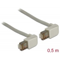 Delock Cable RJ45 Cat.6 SSTP angled / angled 0.5 m