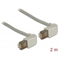Delock Cable RJ45 Cat.6 SSTP angled / angled 2 m