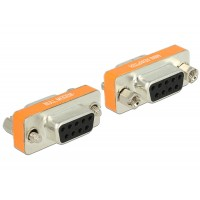 Delock Adapter Null Modem Sub-D 9 pin female > female Gender Changer
