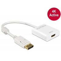 Delock Adapter Displayport 1.2 male > HDMI female 4K Active white