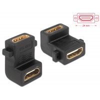 Adapter HDMI A female > female with screw hole 90° angled Delock