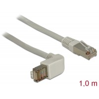 Delock Cable RJ45 Cat.6A SSTP angled / straight 1.0 m