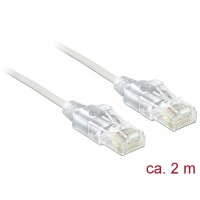 Delock Cable RJ45 Cat.6 UTP Slim 2 m