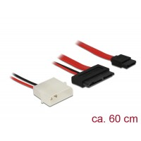 Delock Cable Micro SATA male + 2 pin Power 5 V > SATA 7 pin 60 cm