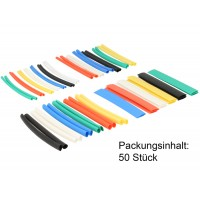 Delock Heat shrink tube set 50 pieces assorted colours