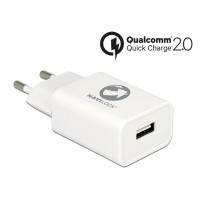 Navilock Charger 1 x USB type A with Qualcomm® Quick Charge™ 2.0 white
