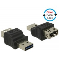Delock Adapter EASY-USB 2.0 Type-A male > EASY-USB 2.0 Type-A female