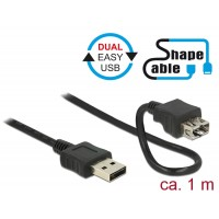 Delock Cable EASY-USB 2.0 Type-A male > EASY-USB 2.0 Type-A female ShapeCable 1 m