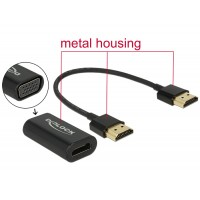 Delock Adapter HDMI-A male > VGA female Metal Housing with 15 cm cable