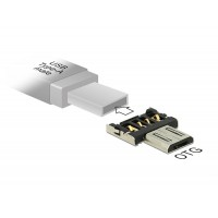 Delock Adapter OTG USB Micro-B male for USB Type-A male