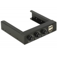 Delock 3.5″ Front Panel > 2 x USB 2.0 and fan control