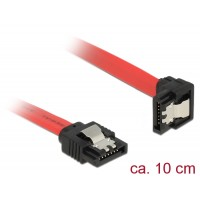 Delock Cable SATA 6 Gb/s male straight > SATA male downwards angled 10 cm red metal