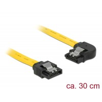 Delock Cable SATA 6 Gb/s male straight > SATA male left angled 30 cm yellow metal