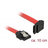 Delock Cable SATA 6 Gb/s male straight > SATA male upwards angled 10 cm red metal