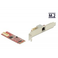 Delock M.2 Adapter M.2 > 1 x RJ45 Gigabit LAN port -40°C ~ 85°C (PCIe)