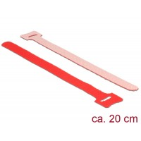 Delock Hook-and-loop fasteners L 200 mm x W 12 mm 10 pieces red