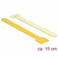 Delock Hook-and-loop fasteners L 150 mm x W 12 mm 10 pieces yellow