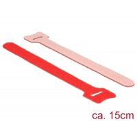 Delock Hook-and-loop fasteners L 150 mm x W 12 mm 10 pieces red