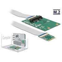 Delock Converter M.2 Key A+E male > 1 x Mini PCIe Slot half size / full size with flexible cable
