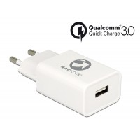 Navilock Charger 1 x USB Type-A with Qualcomm® Quick Charge™ 3.0 white