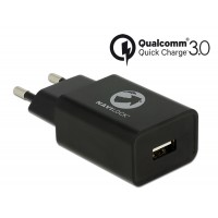 Navilock Charger 1 x USB Type-A with Qualcomm® Quick Charge™ 3.0 black