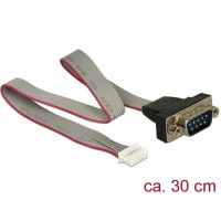 Delock Cable serial pin header female > 1 x RS-232 DB9 male 2 mm pitch layout: twisted