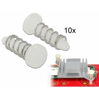Delock Snap Rivet for heat sink - set 10 pieces white